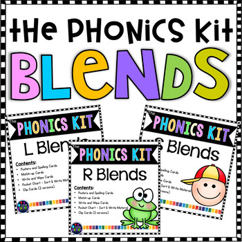 Blends Bundle of Hand-on Activities and Centers