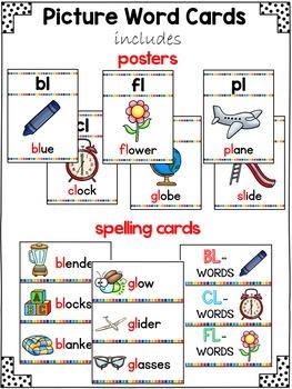 L Blends Activities | Blend Centers for Phonics Center 1st Grade