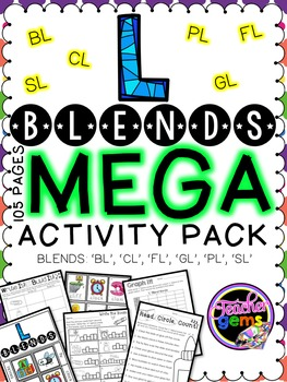 L Blends MEGA Activity Pack - bl, cl, fl, gl, pl, sl