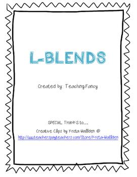 L Blends Activity Packet