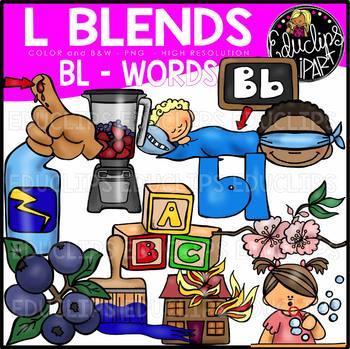 L Blends BL Words Clip Art Bundle {Educlips Clipart}