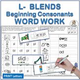 L Blends Beginning Blends Worksheets & Consonant Blends Ac