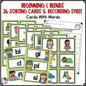 L Blends Beginning Consonant Blends