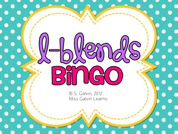 Blends Bingo - L-Blends Bingo