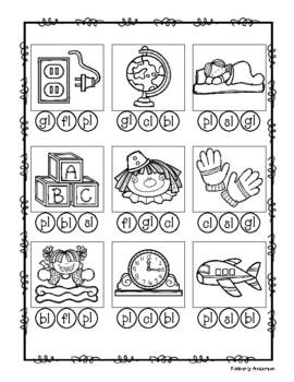 L-Blends Bingo Dab Activity Sheet (L Blends)
