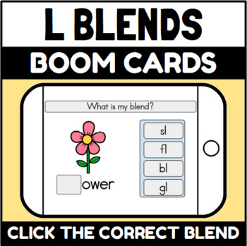 L Blends Boom Cards™ (Distance Learning)