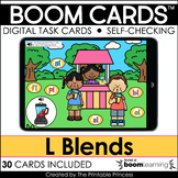 L Blends | Boom Cards™ for Distance Learning