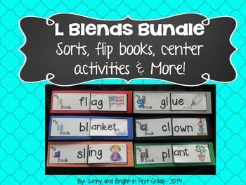 L Blends Bundle- Center Activites, Posters, Sorts, Flip Bo