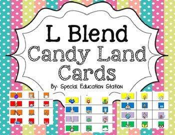 L Blends Candy Land Cards