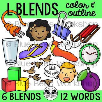 L Blends Clip Art