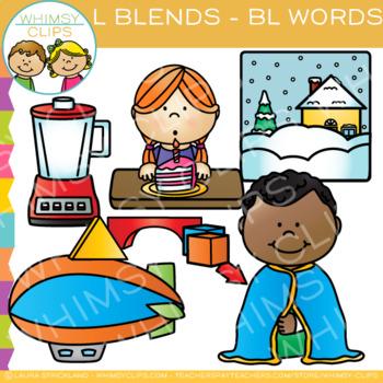 L Blends Clip Art -  BL Words - Volume One