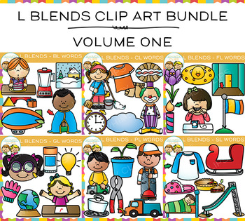 L Blends Clip Art Big Bundle