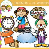 L Blends Clip Art - CL Words - Volume One