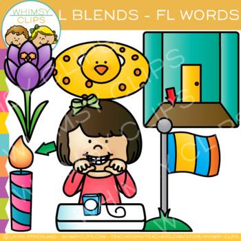 L Blends Clip Art - FL Words - Volume One