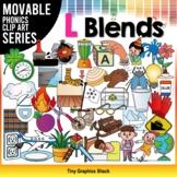 L Blends Phonics Clip Art Movable Pieces