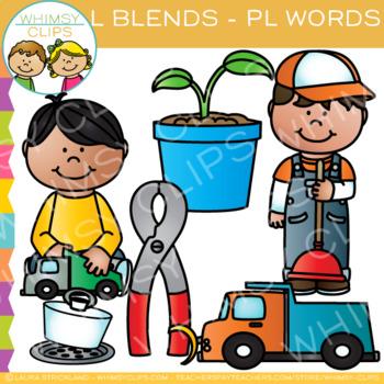 L Blends Clip Art - PL Words - Volume One