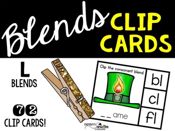 L Blends Clip Cards - St. Patrick's Day Literacy Center