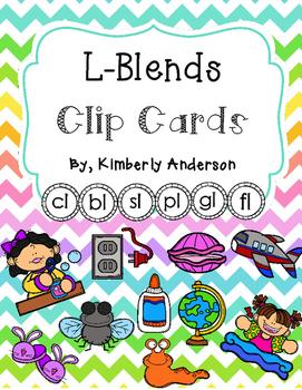 L-Blends Clip Cards and Activity Sheet (L Blends)
