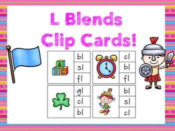 L Blends! Clip Cards!