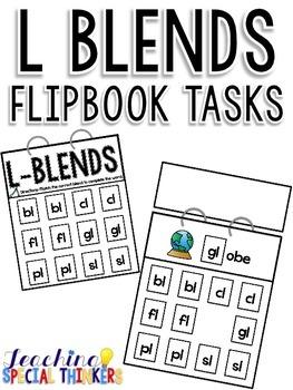 L Blends Flipbook Tasks
