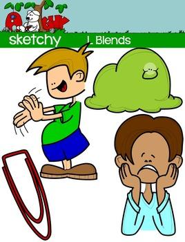 """Blends """"L"""" Clip art"""