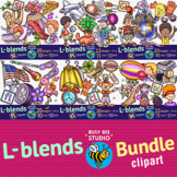 L Blends Clipart |Beginning L Blends BUNDLE