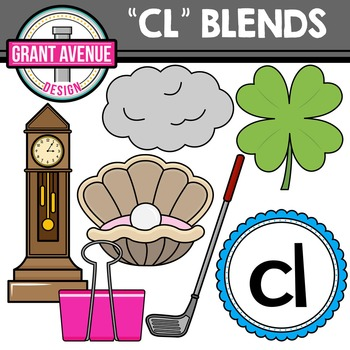 L Blends Clipart - CL Words Clipart