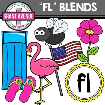 L Blends Clipart - FL Words Clipart
