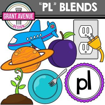L Blends Clipart - PL Words Clipart