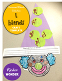 L Blends Clown Craft Template
