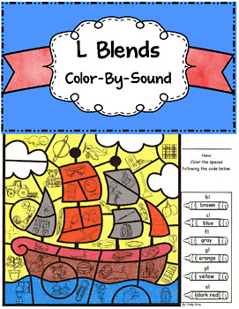 L Blends Color by Sound ~ Thanksgiving Mayflower