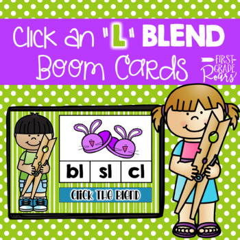 L Blends Digital Task BOOM CARDS