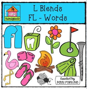 L Blends FL Words {P4 Clips Trioriginals Digital Clip Art}