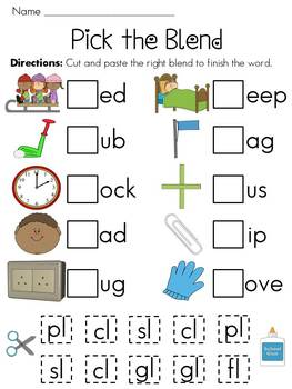 So colorful and unique! Consonant Blends worksheets FREE using PKS ...