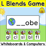 L Blends Game for Smartboards, Tablets, Interactive Whiteboards and Computers