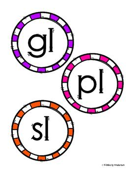 L Blends BUNDLE (3 Centers: Picture Clip Popsicle Cards -13 No Prep Sheets)
