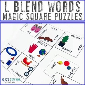L Blend Words Literacy Center Games