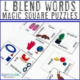 L Blend Words Literacy Center Games