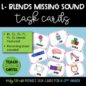 L-Blends Missing Sound Task Cards
