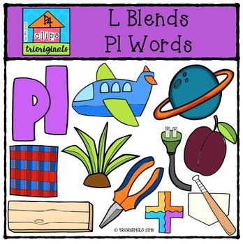 L Blends PL words {P4 Clips Trioriginals Digital Clip Art}