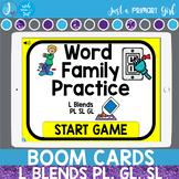 L Blends Pack 1 BOOM Cards™ Distance Learning|Seesaw| Google Slides| Task Cards|