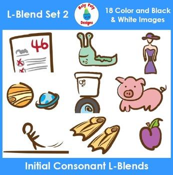 L-Blends Phonics Clip Art Set 2