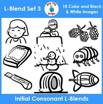 L-Blends Phonics Clip Art Set 3