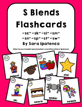 S Blends Phonics Flashcards Bundle