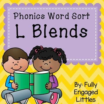 L Blends- Word Sort, Comprehension Stories, Graphs, and More
