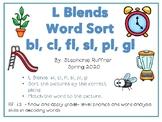L Blends: Picture Sort with Matching Words