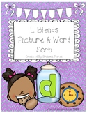 L Blends Picture & Word Sorts