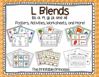 L Blends {Posters, Activities, and Worksheets to Teach Beginning L Blends}