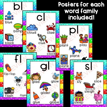 L Blends: Posters & Matching Game Cards!