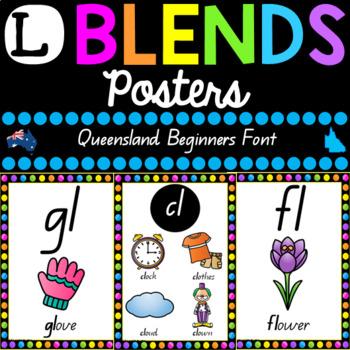 L Blends Posters - Queensland Font
